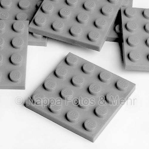 4243831 Lego Platte 4 x 4 Dunkelgrau 5 Stück
