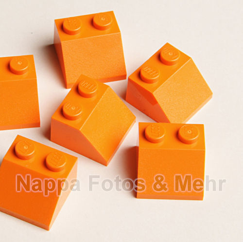 LEGO® Dachstein 1x2 / 45°  orange